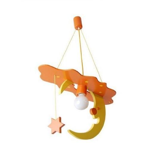 Lampadario LUNA arancio/giallo per cameretta 0106.05