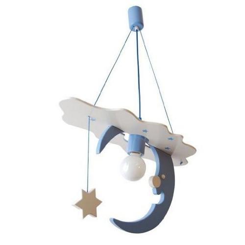 Lampadario LUNA bianco/azzuro per cameretta 0106.06