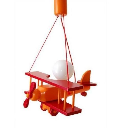 Lampadario AEREO PICCOLO arancione/rosso per cameretta 0101.04.