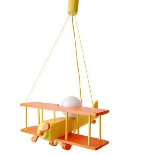 Lampadario lampada AEREO GRANDE 48CM cameretta bimbo in legno.