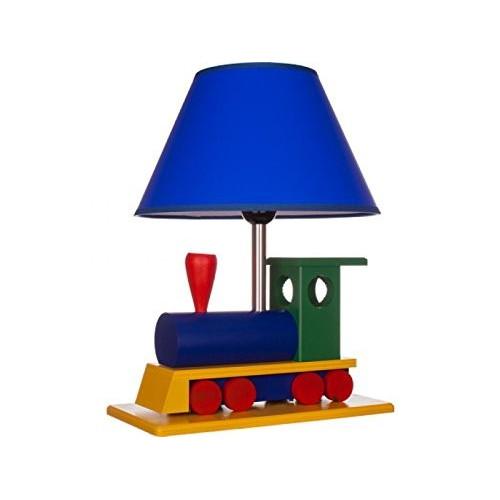 Abat jour bimbo, lampada da tavolo, como per cameretta bambini locomotiva in legno e acciaio, 411.20.08