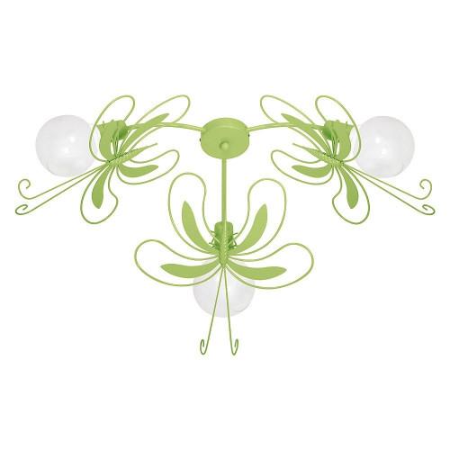 5345 Lampadario in acciaio per cameretta bambini Paz3 farfalla verde.