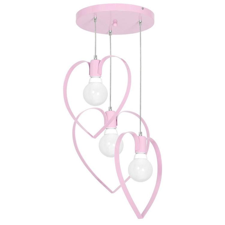 Lampa lampadario cameretta bambini love3 rosa 9954 casa - Lampadario camera bambini ...