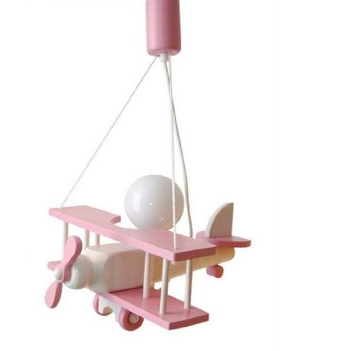 Splendido lampadario lampada AEREO GRANDE 48CM cameretta bimbo in legno.