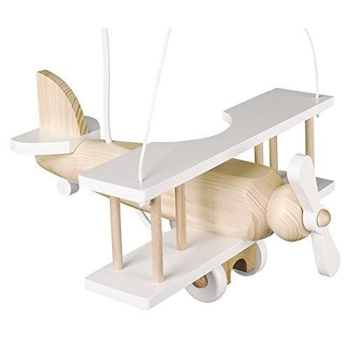 Splendido lampadario lampada AEREO IN LEGNO 32CM X 30CM cameretta bimbo in legno.