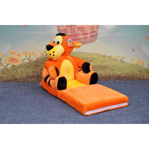 Bambi® Poltrona, poltroncina apribile, divanetto per bambini in morbido peluche. Divano e giocattolo Tigrotto.
