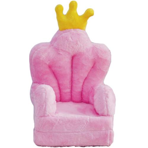 Bambi® Poltrona, poltroncina apribile, divanetto per bambini in morbido peluche. Divano e giocattolo Trono Rosa.