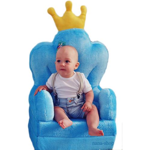 Bambi® Poltrona, poltroncina apribile, divanetto per bambini in morbido peluche. Divano e giocattolo Trono Celeste.