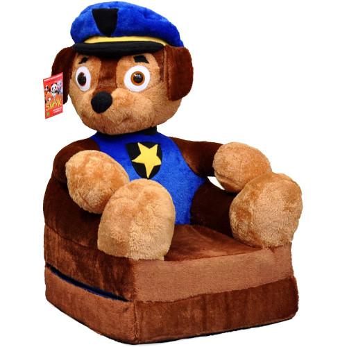 Bambi® Poltrona, poltroncina apribile, divanetto per bambini in morbido peluche. Divano e giocattolo Paw Patrol Chase.