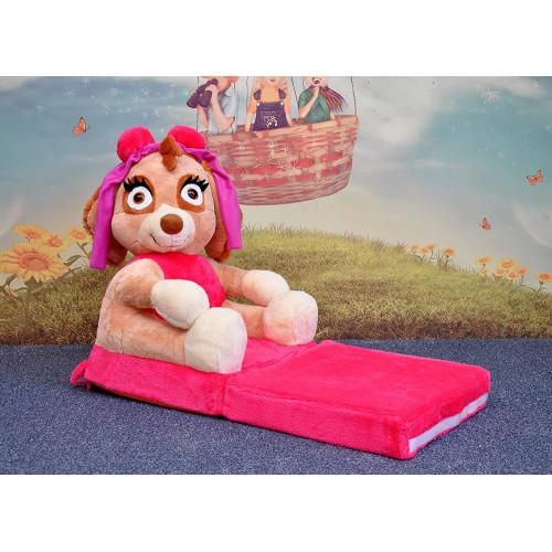 Bambi® Poltrona, poltroncina apribile, divanetto per bambini in morbido peluche. Divano e giocattolo Paw Patrol Sky.