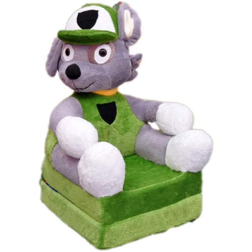 Bambi® Poltrona, poltroncina apribile, divanetto per bambini in morbido peluche. Divano e giocattolo Paw Patrol Rocky.