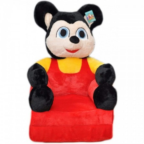 Bambi® Poltrona, poltroncina apribile, divanetto per bambini in morbido peluche. Divano e giocattolo Topolino.