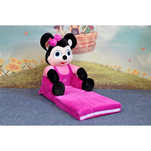 Bambi® Poltrona, poltroncina apribile, divanetto per bambini in morbido peluche. Divano e giocattolo Topolina